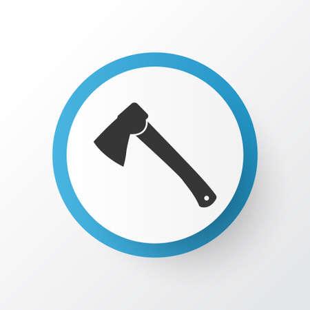 Hatchet icon symbol. Premium quality isolated axe element in trendy style.