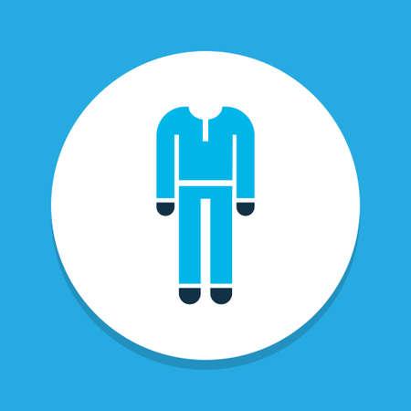 Protective clothing icon colored symbol. Premium quality isolated uniform element in trendy style. Ilustração