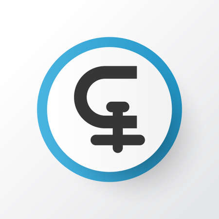 Chuck icon symbol. Premium quality isolated clamp element in trendy style. 스톡 콘텐츠