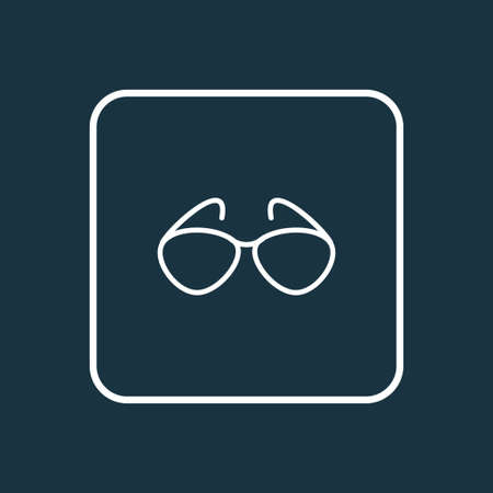 Sunglasses icon line symbol. Premium quality isolated eyeglasses element in trendy style.