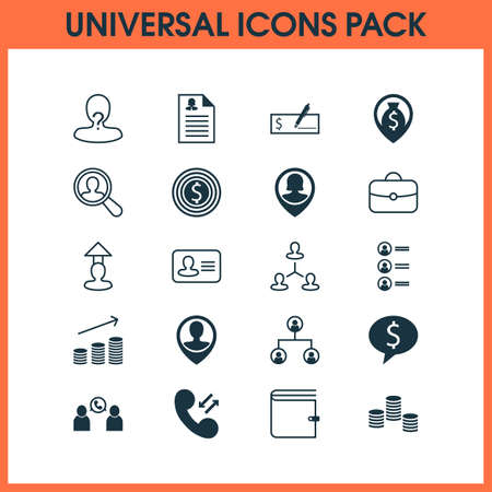 Human icons set with male pin, vacancy, catalogue of employees and other goal  elements. Isolated vector illustration human icons.