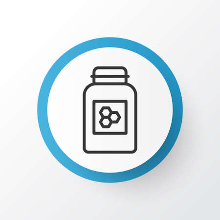Honey icon symbol. Premium quality isolated jar element in trendy style.