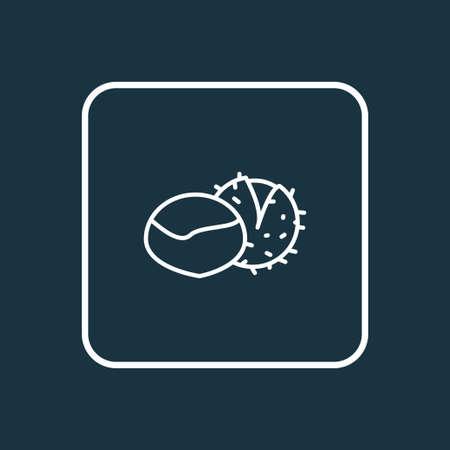 Chestnut icon line symbol. Premium quality isolated marron element in trendy style.