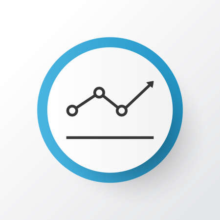 Growth point arrow icon symbol. Premium quality isolated amplitude element in trendy style.