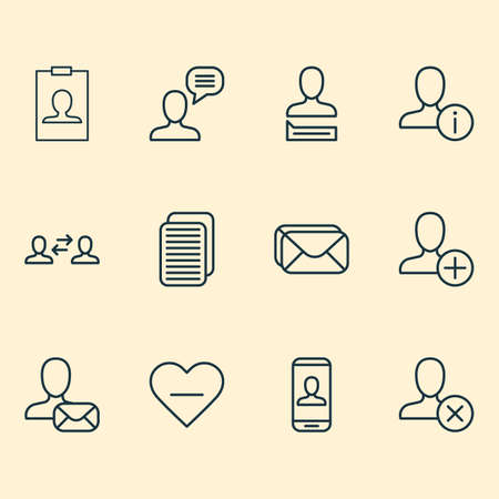 Social icons set with connect, communication, inbox and other connect
