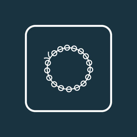 Beading icon line symbol. Premium quality isolated bracelet element in trendy style.