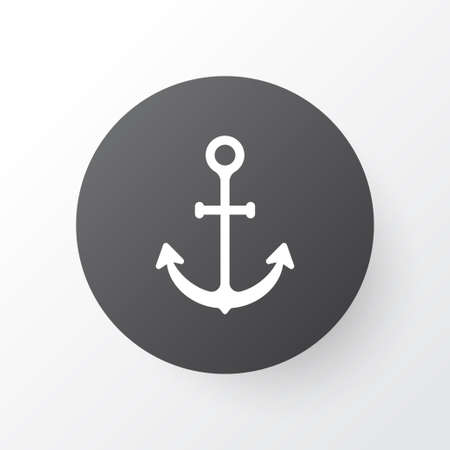 Anchor icon symbol. Premium quality isolated ship hook element in trendy style.