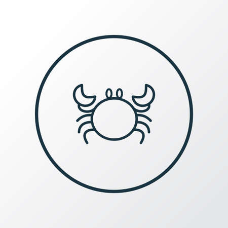 Crab icon line symbol. Premium quality isolated cancer element in trendy style. Stock Vector - 127063871