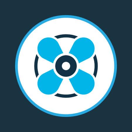 Simbolo dell'icona del ventilatore colorato. Elemento di ventilazione isolato di qualità Premium in stile trendy.