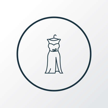 Prom dress icon line symbol. Premium quality isolated gown element in trendy style. Illustration