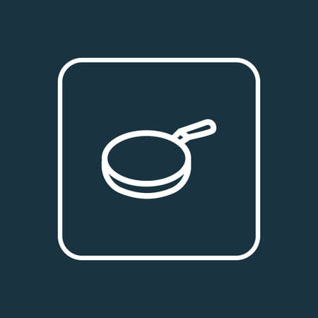 Pan icon line symbol. Premium quality isolated skillet element in trendy style. Illustration