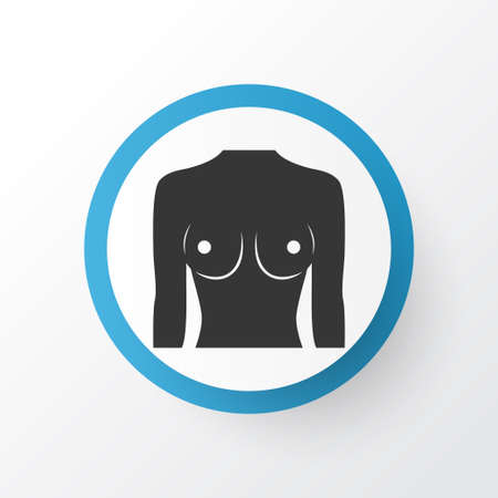 Breast icon symbol. Premium quality isolated boob element in trendy style. Фото со стока