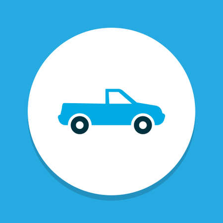 Pickup icon colored symbol. Premium quality isolated cabriolet element in trendy style.