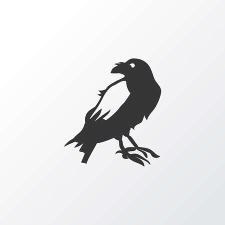 Raven icon symbol. Premium quality isolated crow element in trendy style.