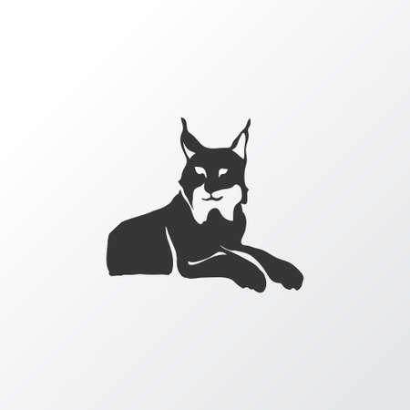 Simbolo dell'icona di lince. Elemento di gatto selvatico isolato di qualità premium in stile alla moda.