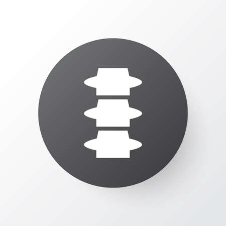 Spine icon symbol. Premium quality isolated backbone element in trendy style. Illustration