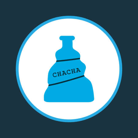 Chacha icon colored symbol. Premium quality isolated tequila element in trendy style.