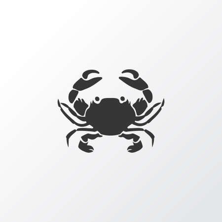 Crab icon symbol. Premium quality isolated cancer element in trendy style.