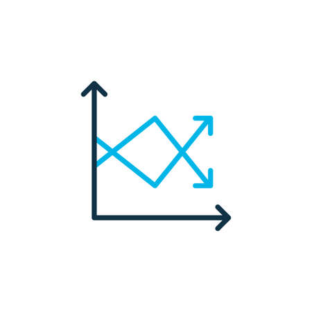 Analytics icon colored symbol. Premium quality isolated information element in trendy style.