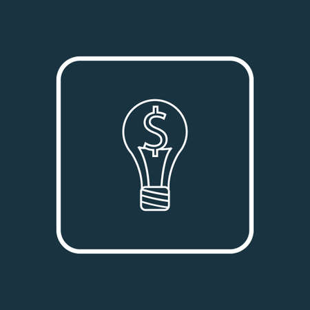 Smart solution icon line symbol. Premium quality isolated bulb element in trendy style. Illustration