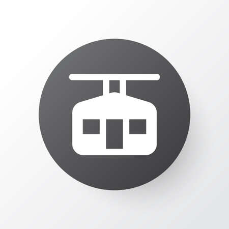Ski cabin icon symbol. Premium quality isolated ropeway element in trendy style. Иллюстрация