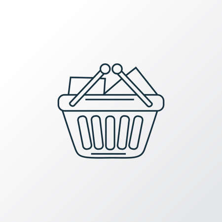 Shopping basket icon line symbol. Premium quality isolated purchase element in trendy style.