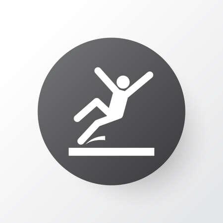 Symbole d'icône de zone glissante. Élément de surface isolé de qualité supérieure dans un style branché.