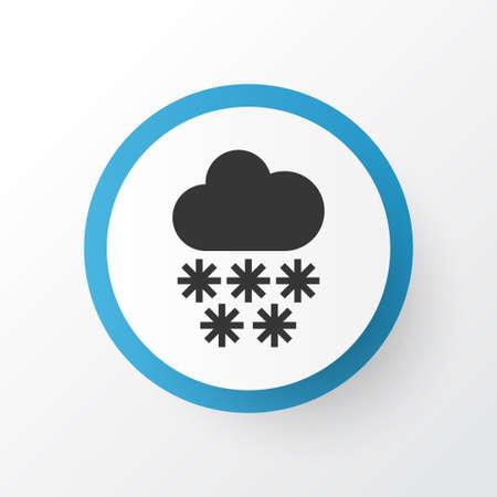 Snowfall icon symbol. Premium quality isolated winter element in trendy style. Illusztráció
