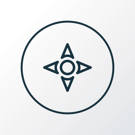 Controller icon line symbol. Premium quality isolated arrow element in trendy style.