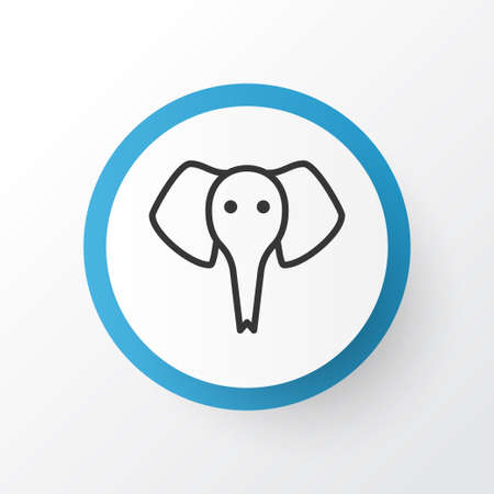 Elephant icon symbol. Premium quality isolated trunked animal element in trendy style.