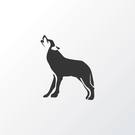 Wolf icon symbol. Premium quality isolated husky element in trendy style. Foto de archivo - 126701436