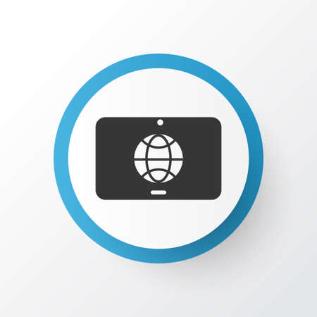 Touchscreen icon symbol. Premium quality isolated tablet communication element in trendy style.