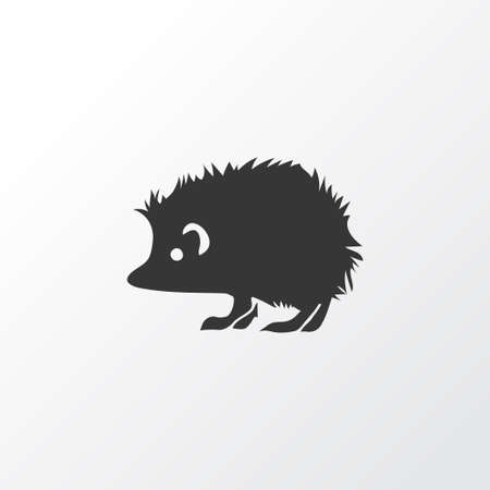 Hedgehog icon symbol. Premium quality isolated porcupine element in trendy style.