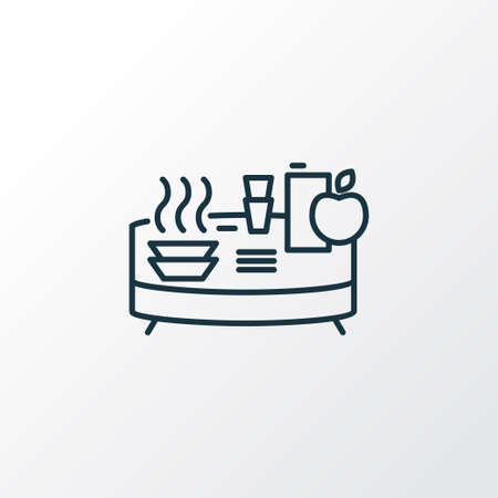 Buffet icon line symbol. Premium quality isolated banquet element in trendy style.