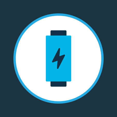 Battery icon colored symbol. Premium quality isolated charge element in trendy style.