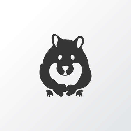 Hamster icon symbol. Premium quality isolated rodent element in trendy style. Vector Illustration