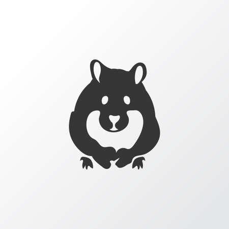 Symbole d'icône de hamster. Élément de rongeur isolé de qualité supérieure dans un style branché. Vecteurs