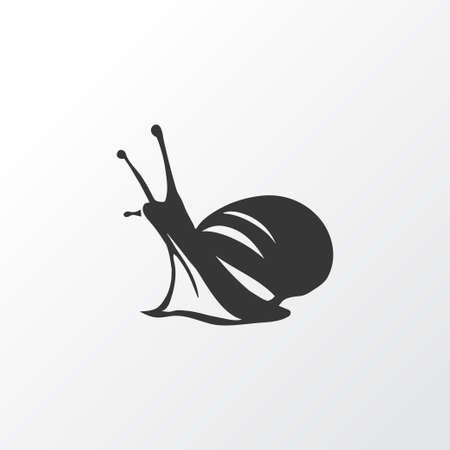 Snail icon symbol. Premium quality isolated slug element in trendy style. 向量圖像