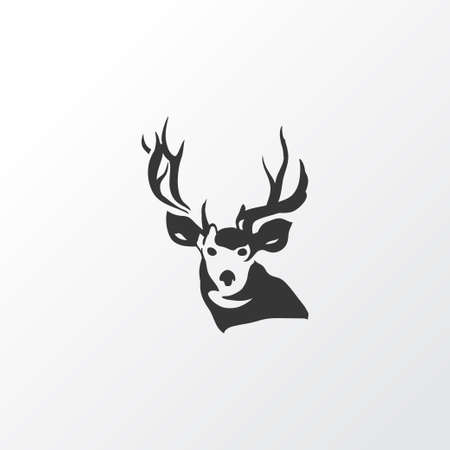 Deer icon symbol. Premium quality isolated antler element in trendy style.