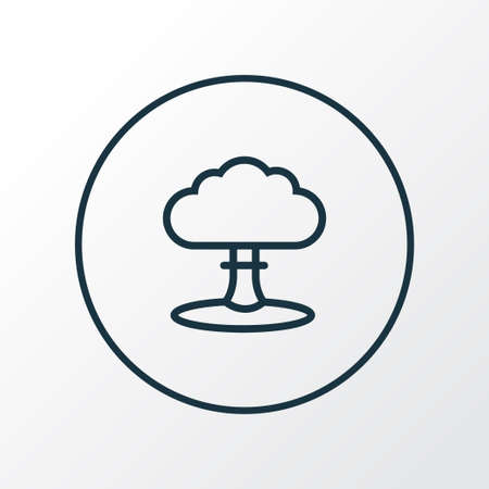 Nuclear explosion icon line symbol. Premium quality isolated atomic bomb element in trendy style.
