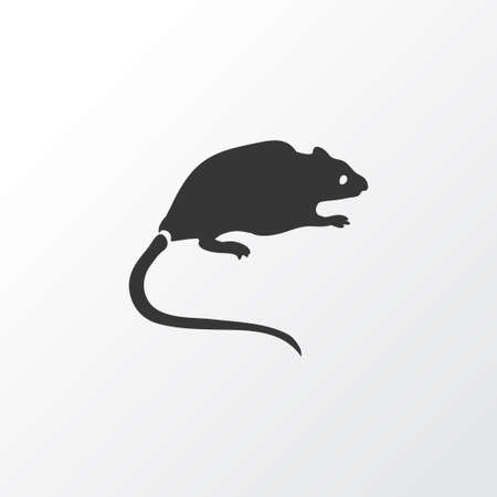 Rat icon symbol. Premium quality isolated mouse element in trendy style.