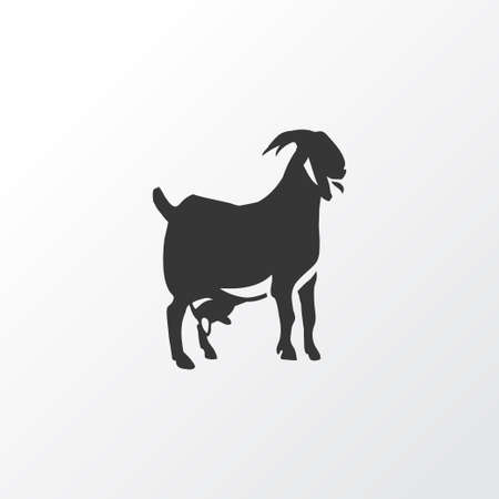 Goat icon symbol. Premium quality isolated ungulate element in trendy style.