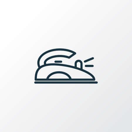 Iron icon line symbol. Premium quality isolated flatiron element in trendy style.