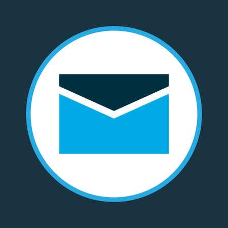 Envelope icon colored symbol. Premium quality isolated mail element in trendy style. Ilustração Vetorial
