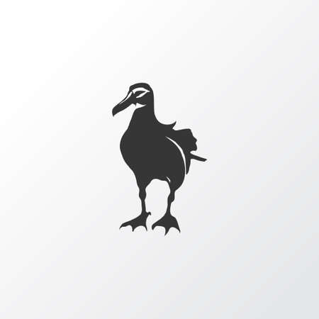 Albatross icon symbol. Premium quality isolated gull element in trendy style.