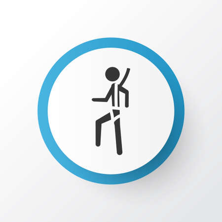 Risk icon symbol. Premium quality isolated safety harness element in trendy style. Stock Photo