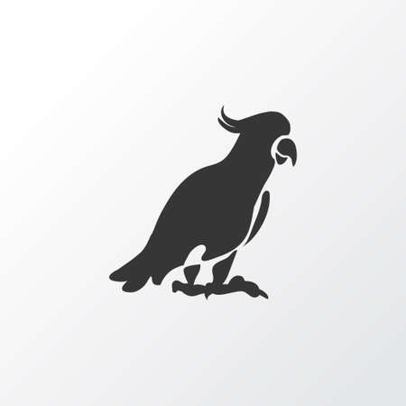 Cockatoo icon symbol. Premium quality isolated parrot element in trendy style. 向量圖像