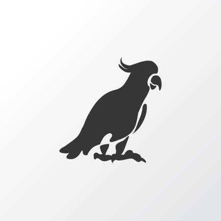 Kaketoe pictogram symbool. Premiumkwaliteit geïsoleerd papegaaienelement in trendy stijl.
