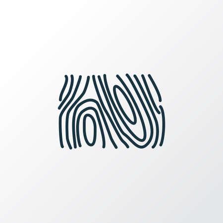 Wood texture icon line symbol. Premium quality isolated design element in trendy style.