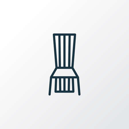 Dining chair icon line symbol. Premium quality isolated seat element in trendy style. Illustration